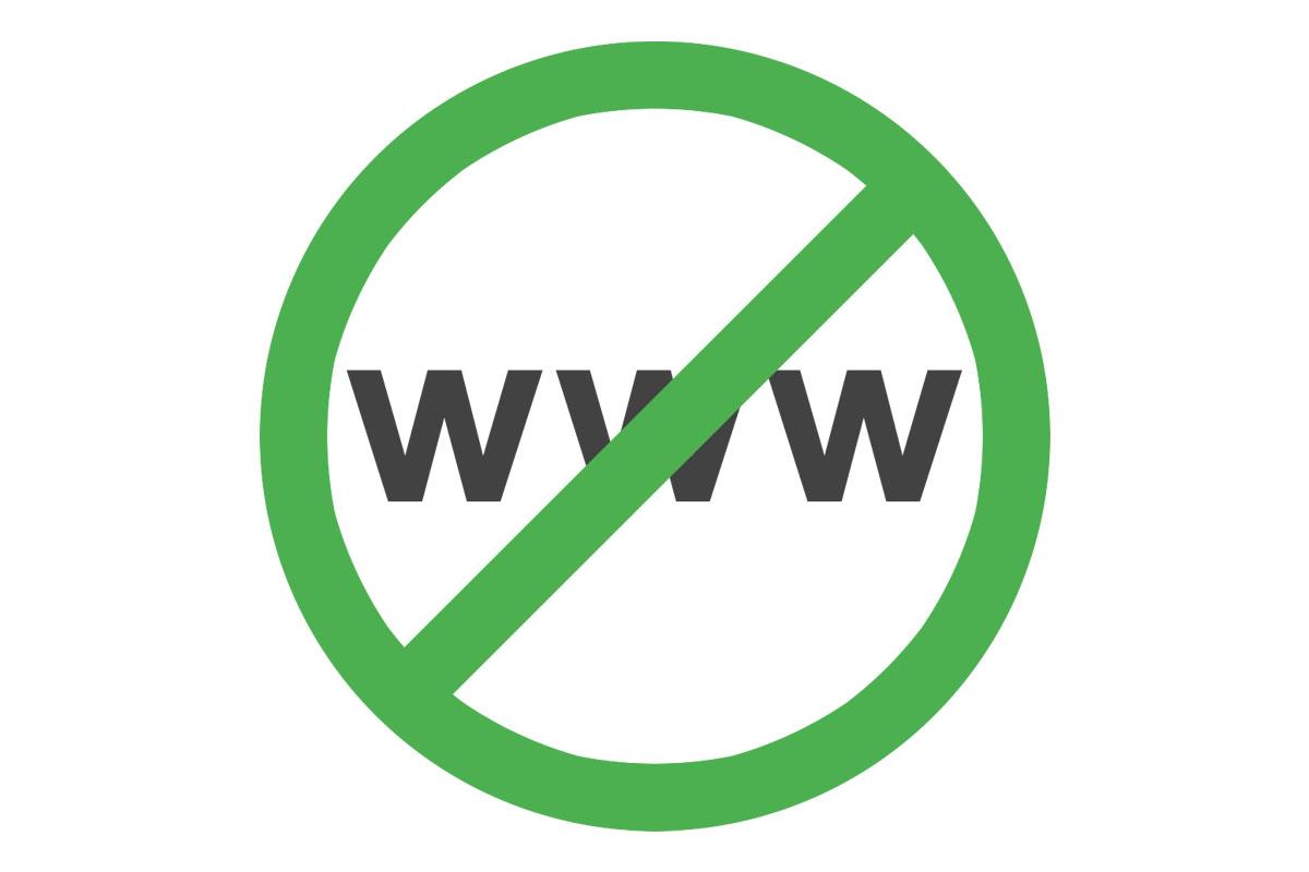 Δέκα λόγοι για να εγκαταλείψετε το www από το website σας